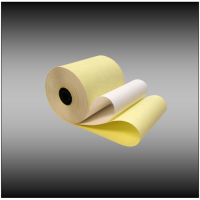 "3"" x 95'  White Canary 2-ply Bond Paper (50 rolls per case)"