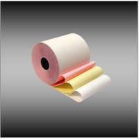 "3"" x 65' 3-ply White, Canary and Pink Bond (50 rolls per case)"