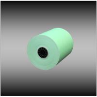 "3"" x 165' 1-ply Light Green Bond Paper (50 rolls per case)"