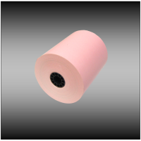 "3 1/8"" x 230' Pink Thermal Paper (50 rolls per case)"