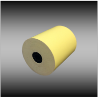"3"" x 165' 1-ply Canary Bond Paper (50 rolls per case)"