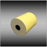 "3"" x 165' 1-ply Canary Bond Paper (50 rolls per case)"