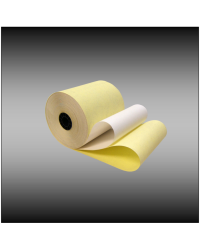 "3"" x 95'  White Canary 2-ply Bond Paper (50 rolls)"