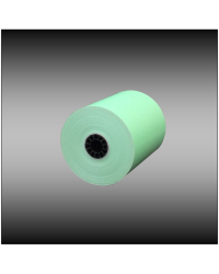 "3"" x 165' 1-ply Light Green Bond Paper (50 rolls per case)"